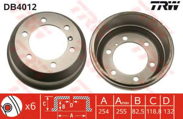 Тормозной барабан TRW DB4012