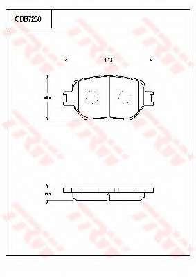 Комплект тормозных колодок, дисковый тормоз TOYOTA 0446560320