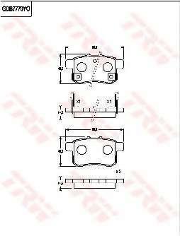 Комплект тормозных колодок, дисковый тормоз HONDA 43022-TA0-A00