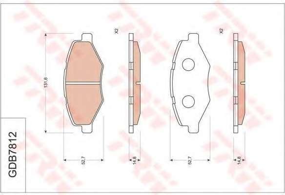 Комплект тормозных колодок, дисковый тормоз CHERY A116GN3501080