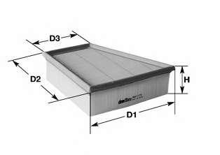 Воздушный фильтр CLEAN FILTERS MA3065