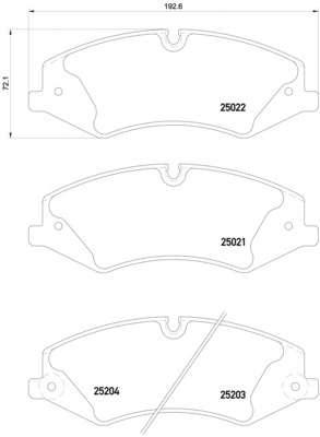 Комплект тормозных колодок, дисковый тормоз LAND ROVER LR051626