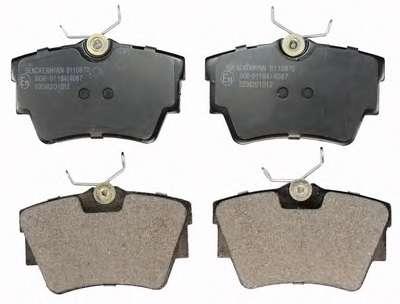 Комплект тормозных колодок, дисковый тормоз DENCKERMANN B110870
