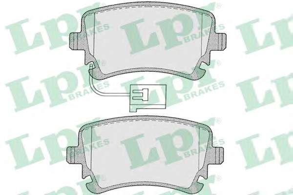 Комплект тормозных колодок, дисковый тормоз LPR 05P1206