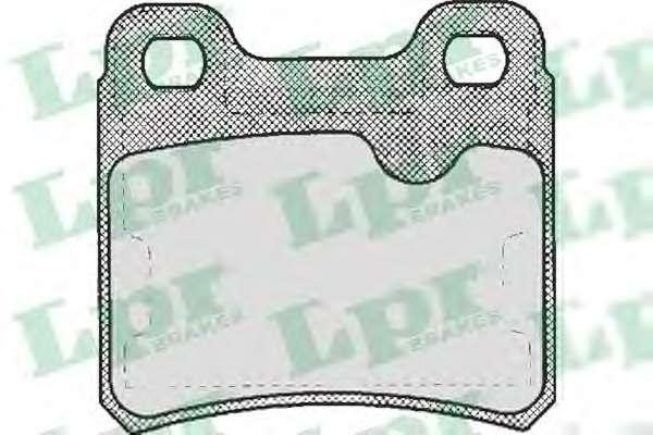 Комплект тормозных колодок, дисковый тормоз LPR 05P333