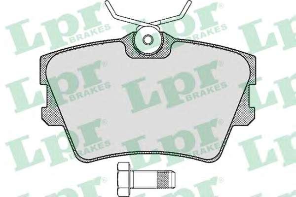 Комплект тормозных колодок, дисковый тормоз LPR 05P616