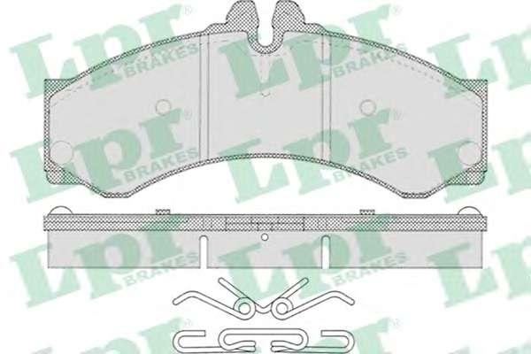 Комплект тормозных колодок, дисковый тормоз LPR 05P633