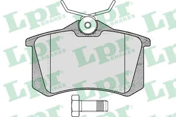 Комплект тормозных колодок, дисковый тормоз LPR 05P634