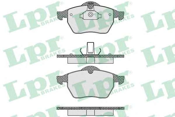 Комплект тормозных колодок, дисковый тормоз LPR 05P635