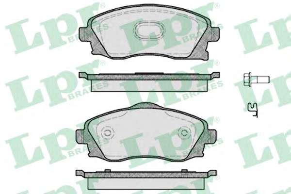 Комплект тормозных колодок, дисковый тормоз LPR 05P758