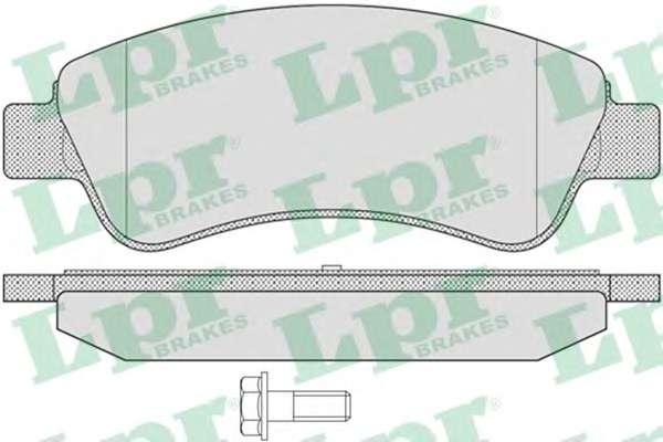 Комплект тормозных колодок, дисковый тормоз LPR 05P802