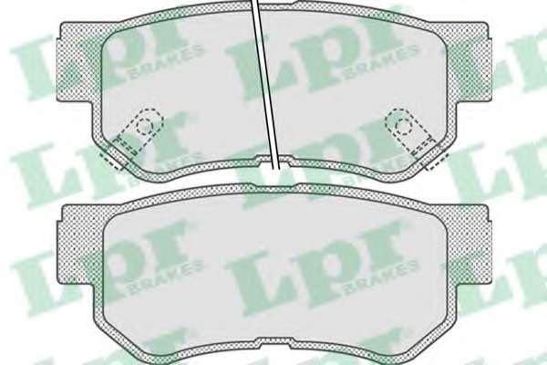Комплект тормозных колодок, дисковый тормоз LPR 05P848