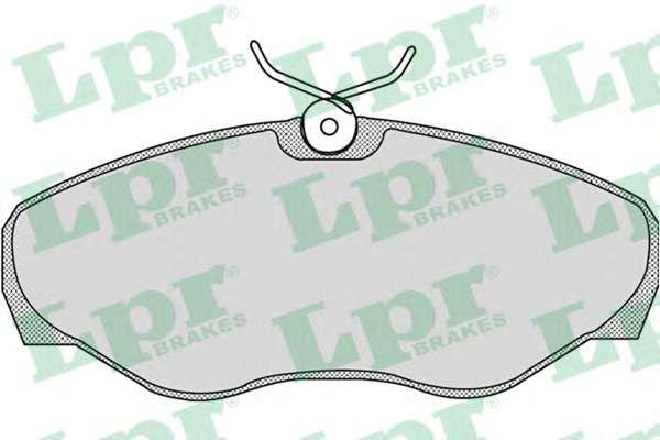 Комплект тормозных колодок, дисковый тормоз LPR 05P869