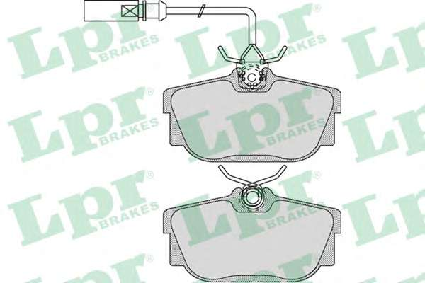 Комплект тормозных колодок, дисковый тормоз LPR 05P974