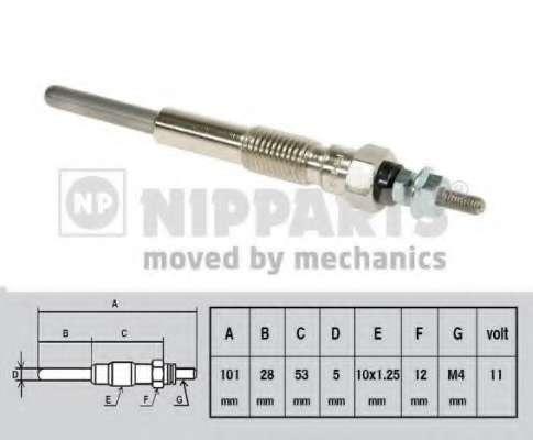 Свеча накаливания NIPPARTS J5712007