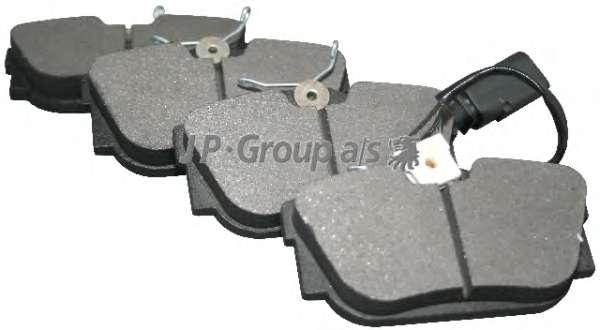 Комплект тормозных колодок, дисковый тормоз JP GROUP 1163706010
