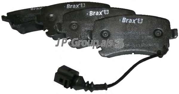 Комплект тормозных колодок, дисковый тормоз JP GROUP 1163706210