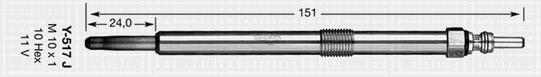 Свеча накаливания NGK 91766