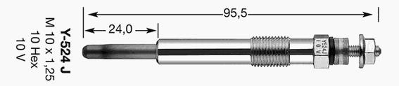 Свеча накаливания NGK 4520
