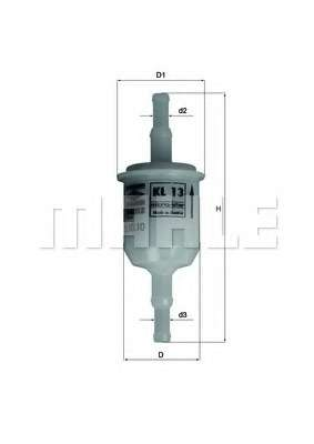 Топливный фильтр MAHLE ORIGINAL KL 13 OF