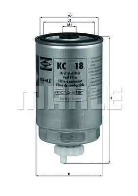 Топливный фильтр MAHLE ORIGINAL KC 18
