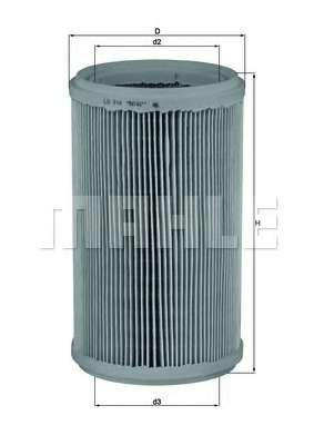 Воздушный фильтр MAHLE ORIGINAL LX 914