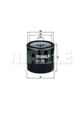 Масляный фильтр MAHLE ORIGINAL OC 90