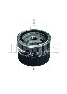 Масляный фильтр MAHLE ORIGINAL OC 384