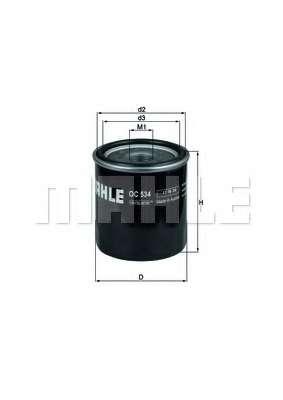 Масляный фильтр MAHLE ORIGINAL OC 534