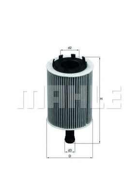 Масляный фильтр MAHLE ORIGINAL OX 188D