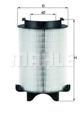 Воздушный фильтр MAHLE ORIGINAL LX 1566