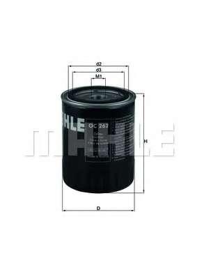 Масляный фильтр MAHLE ORIGINAL OC 262