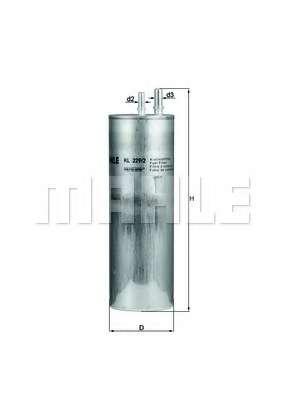 Топливный фильтр MAHLE ORIGINAL KL 229/2