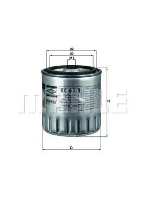 Топливный фильтр MAHLE ORIGINAL KC 63/1D