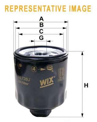 Масляный фильтр WIX FILTERS WL7133