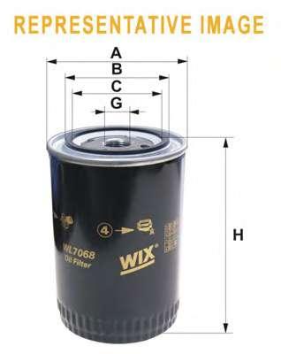 Масляный фильтр WIX FILTERS WL7068
