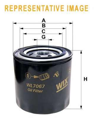 Масляный фильтр WIX FILTERS WL7067