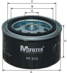 Масляный фильтр MFILTER TF 315
