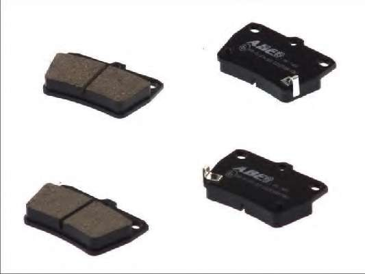 Комплект тормозных колодок, дисковый тормоз ABE C22027ABE