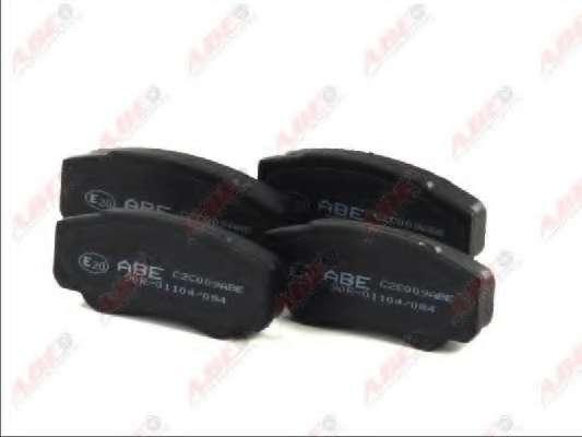 Комплект тормозных колодок, дисковый тормоз ABE C2C009ABE