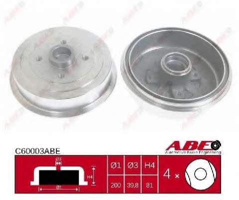 Тормозной барабан ABE C60003ABE