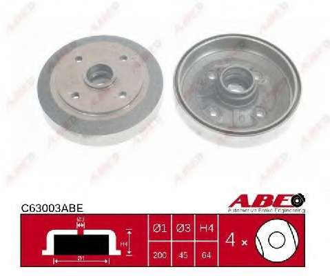 Тормозной барабан ABE C63003ABE