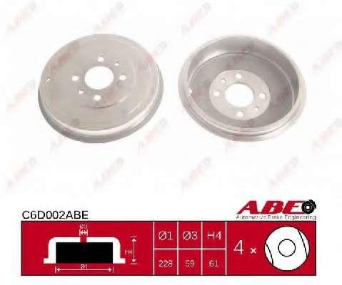 Тормозной барабан ABE C6D002ABE