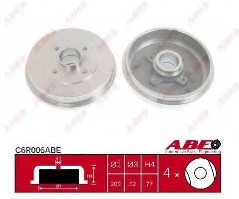 Тормозной барабан ABE C6R006ABE