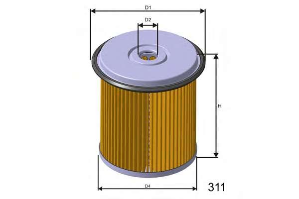 Топливный фильтр MISFAT F676