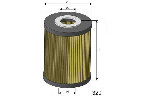 Масляный фильтр MISFAT L106