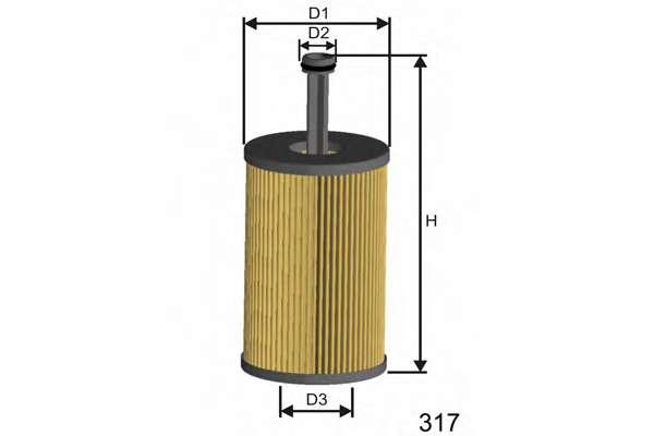 Масляный фильтр MISFAT L105