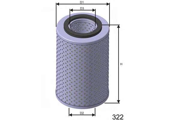 Масляный фильтр MISFAT L555