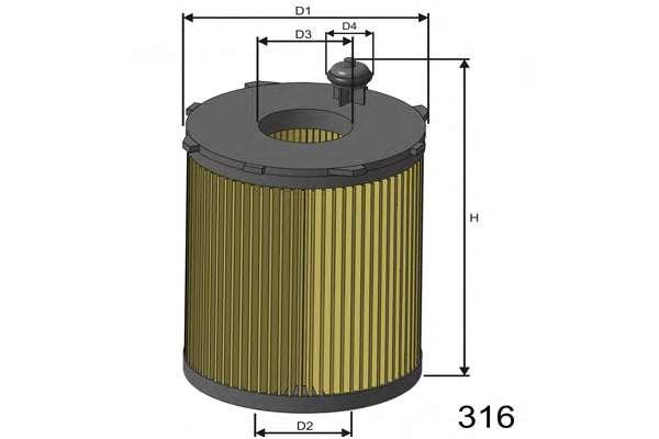 Масляный фильтр MISFAT L104