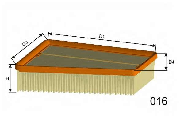 Воздушный фильтр MISFAT P421